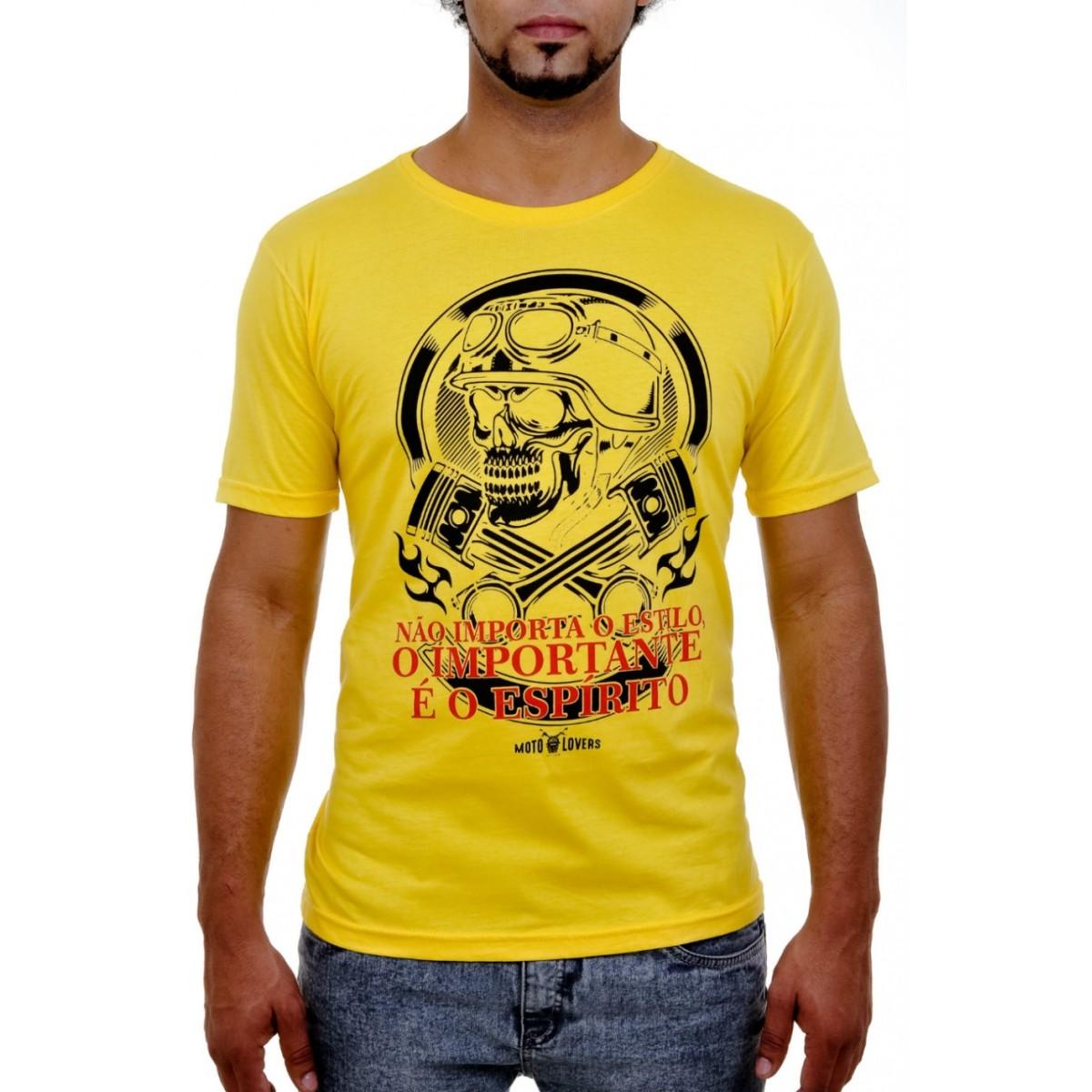Camiseta Não Importa o Estilo - Amarela