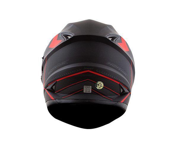 Capacete NoRisk FF302 TARGET Preto-Vermelho