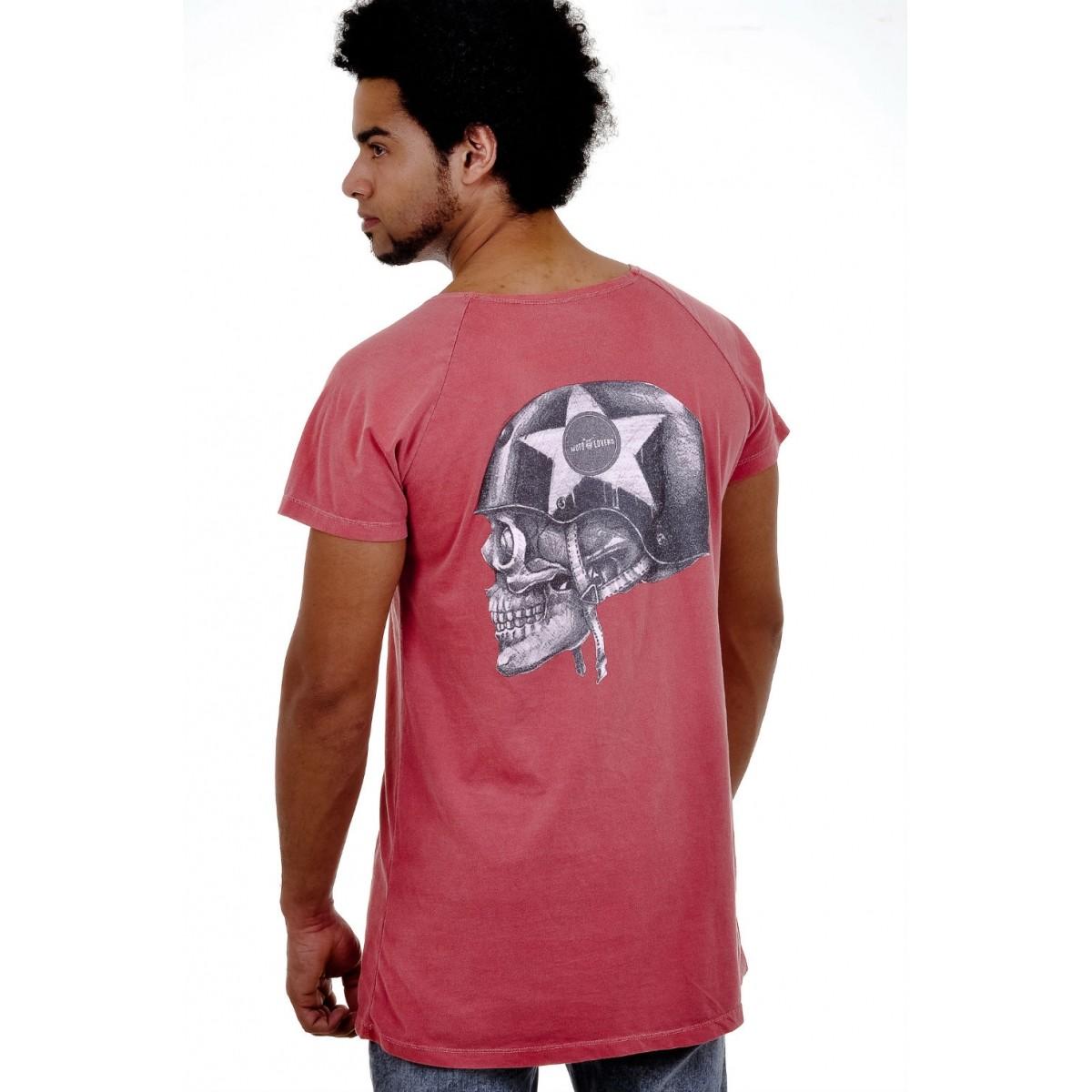 T-shirt Helmet Skull