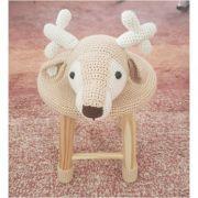 Banquinho Infantil Forrado em Crochet - Cervo