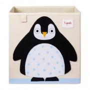 Caixa Organizadora 3 Sprouts Quadrada - Pinguim