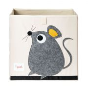 Caixa Organizadora 3 Sprouts Quadrada - Ratinho