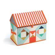 Caixa Organizadora Infantil Djeco - Casinha Multicolor