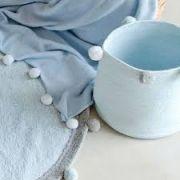Cesto Lorena Canals Azul - Bubbly - 30 x 30 cm