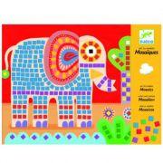 Colagem com Mosaico Djeco - Elefante