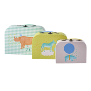 Kit com 3 Maletas Rice DK - Animals