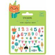 Mini Stickers Djeco - Adesivos Colantes Festa de Aniversário