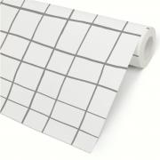 Papel de Parede Grid Irregular Cinza