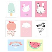 Lightbox - Kit Posters Girl com 8 unidades - A Little Lovely Company