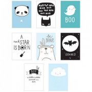 Lightbox - Kit Posters Boy com 8 unidades - A Little Lovely Company