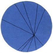 Tapete Lorena Canals Trace - Azul Klein - 1.60 diam.