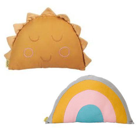 Almofada Adot Infantil Arco-íris ou Sol - 40 x 25 cm