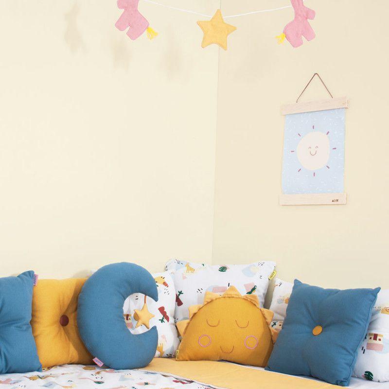 Almofada Adot Infantil Lua - Azul ou Rosa 33 x 21,5 cm