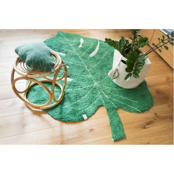 Almofada Lorena Canals Costela de Adão - Folha Verde - 28 x 42 cm