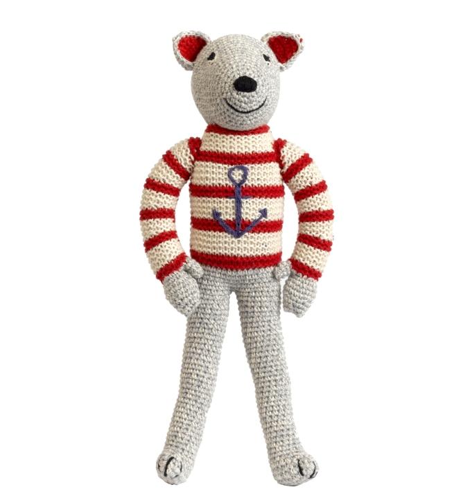 Urso Marinheiro em Crochet - Anne Claire Petit