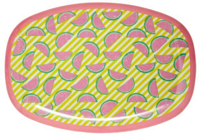 Bandeja Rice Dk em Melamina - Melancias 30 x 22 cm