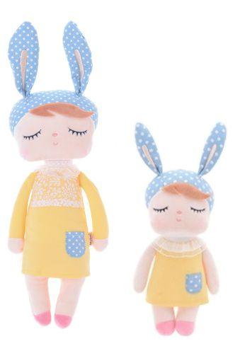 Boneca Metoo Angela Bunny - Vestido Amarelo - 2 tamanhos