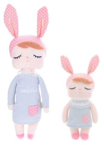 Boneca Metoo Angela Bunny Vestido Cinza - 2 tamanhos