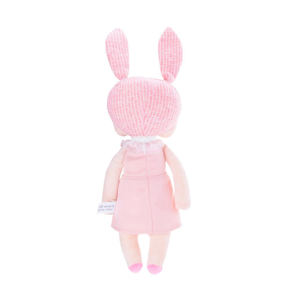 Boneca Metoo Angela Mini Jardineira - Vestido Rosa 21 cm