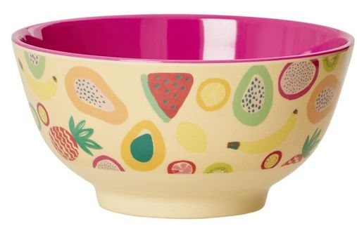 Bowl Rice Dk em Melamina - Frutas  8 x 15 cm