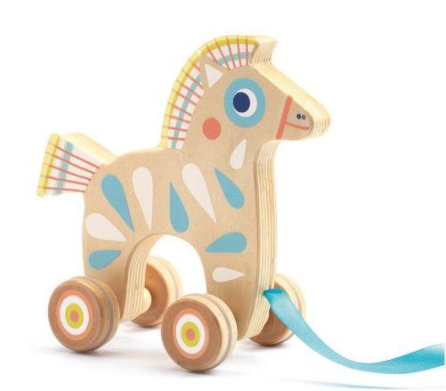Brinquedo para Puxar em Madeira Djeco - Cavalo