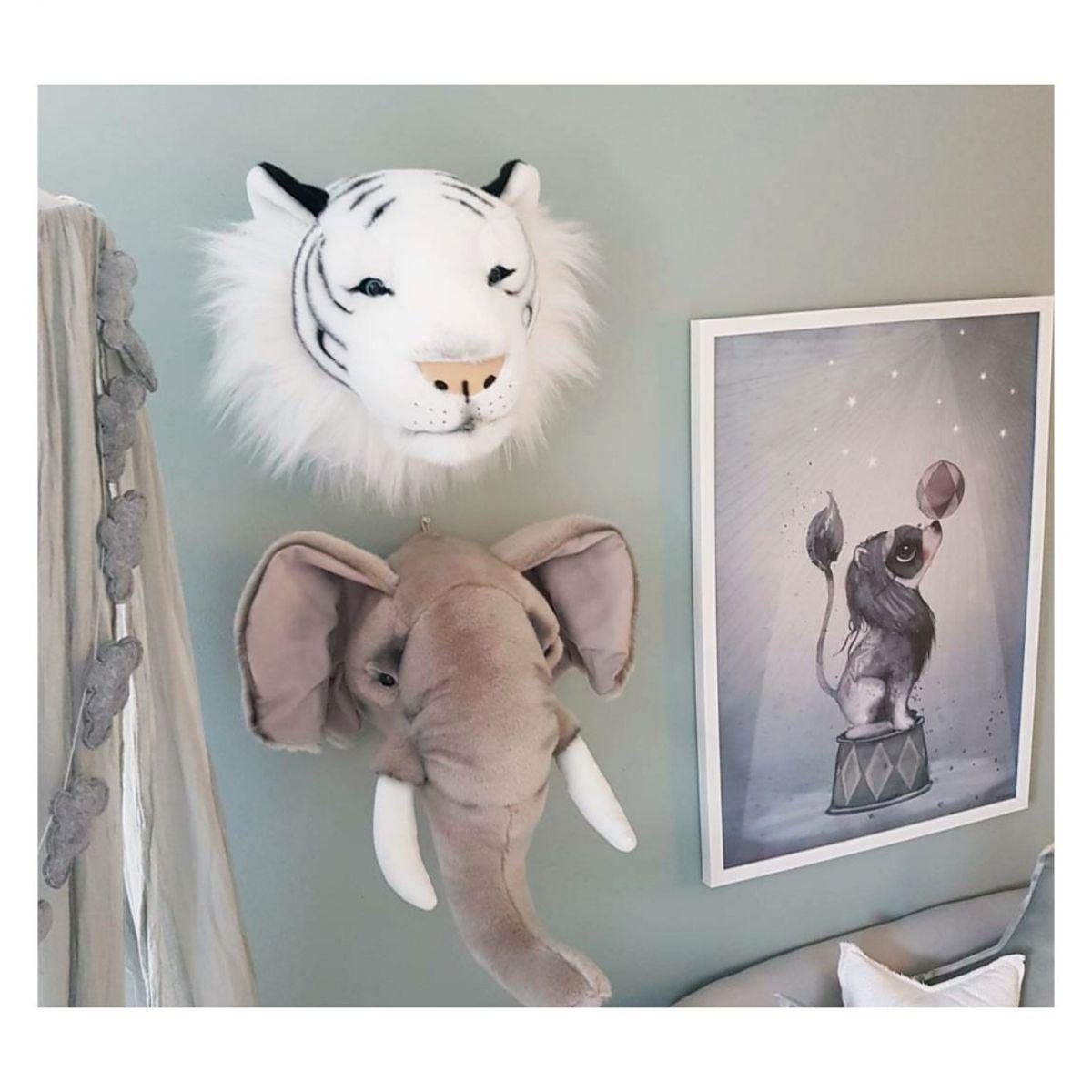 Pelúcia de Parede - Cabeça de Tigre Branco