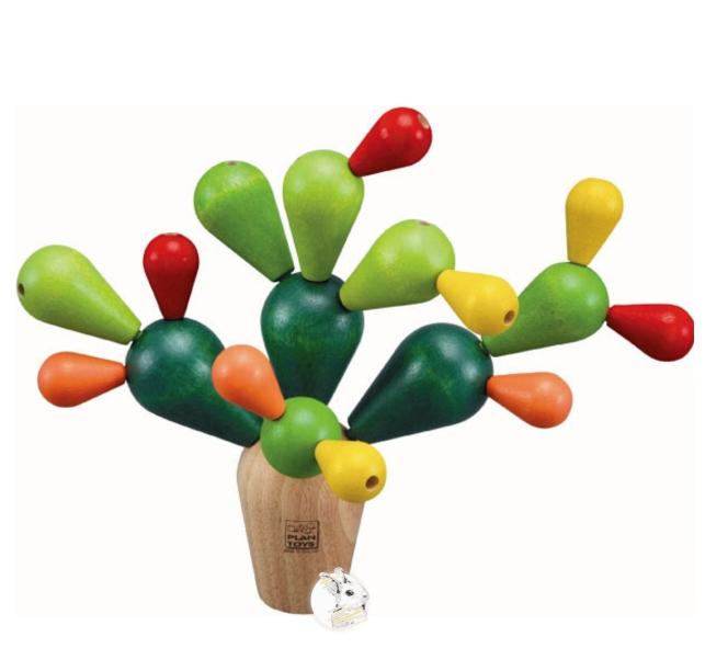 Cactus de Encaixe em Madeira - PlanToys