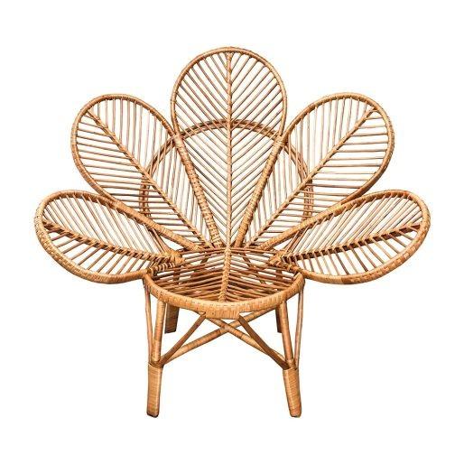 Cadeira Flor Pétalas em Vime