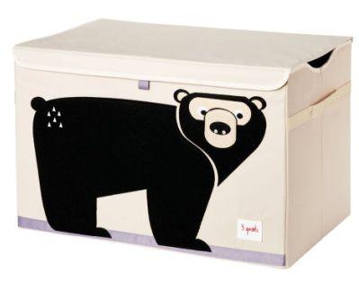 Caixa Organizadora 3 Sprouts Retangular com Tampa - Urso