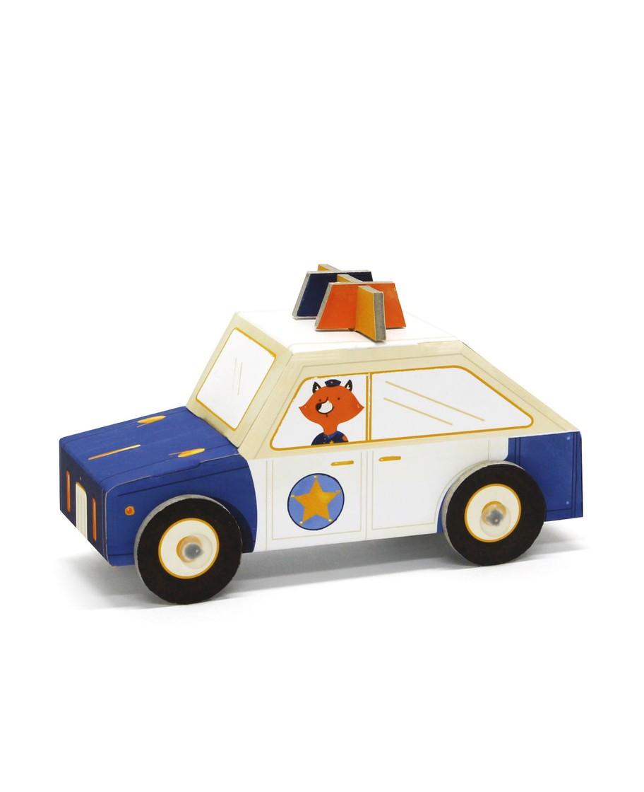 Carrinho para Montar Krooom - Polícia