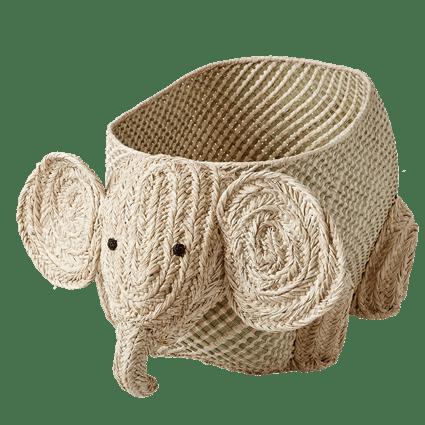 Cesto de Ráfia Natural Rice Dk - Elefante