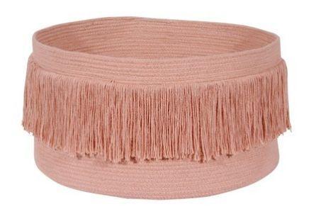 Cesto Lorena Canals Franjas Canyon Rose - Rosa Nude - 45 x 25 cms