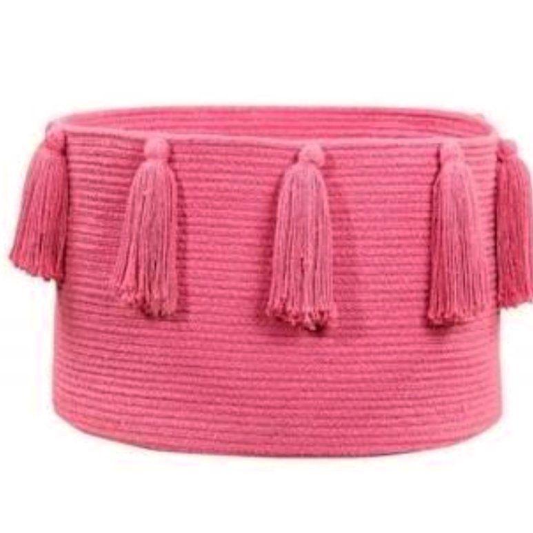 Cesto Lorena Canals Pink - Tassel - Franjas