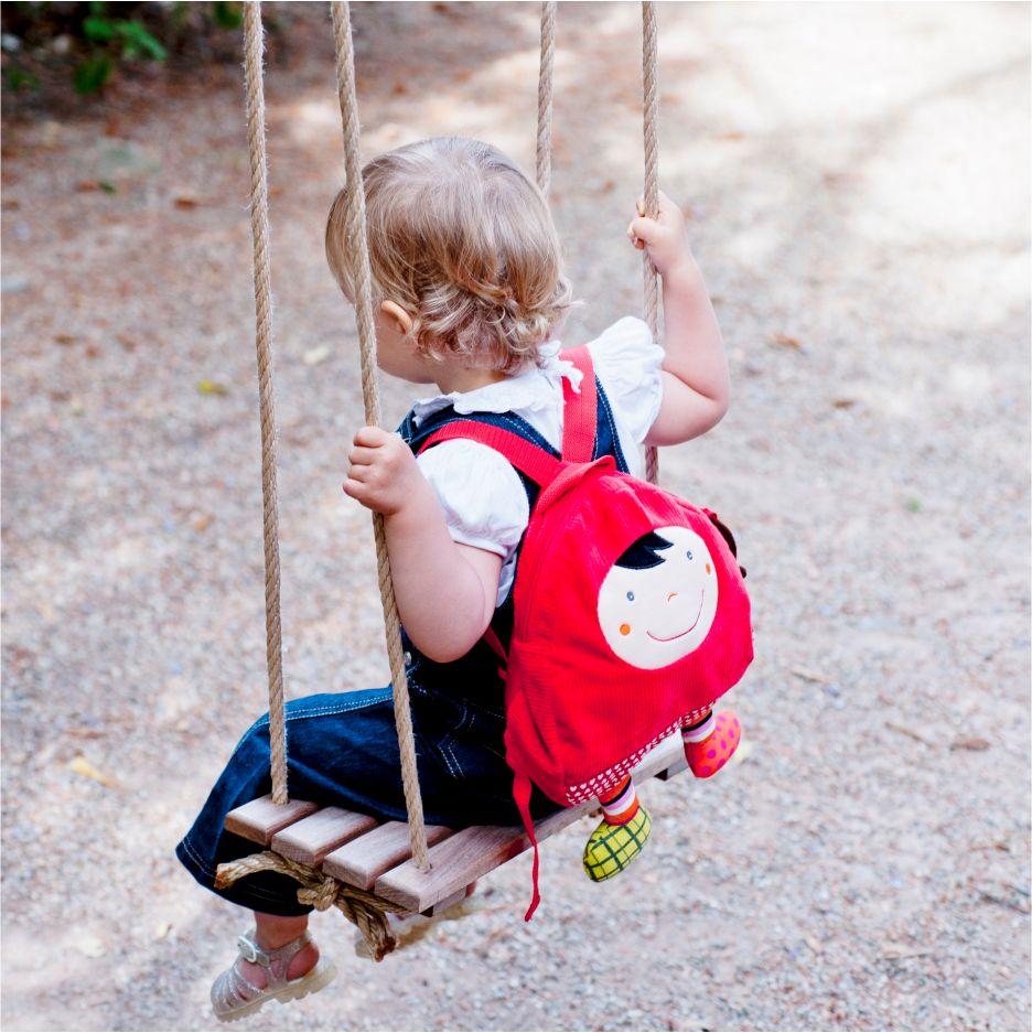 Mochila Infantil em Tecido Ebulobo - Chapeuzinho Vermelho