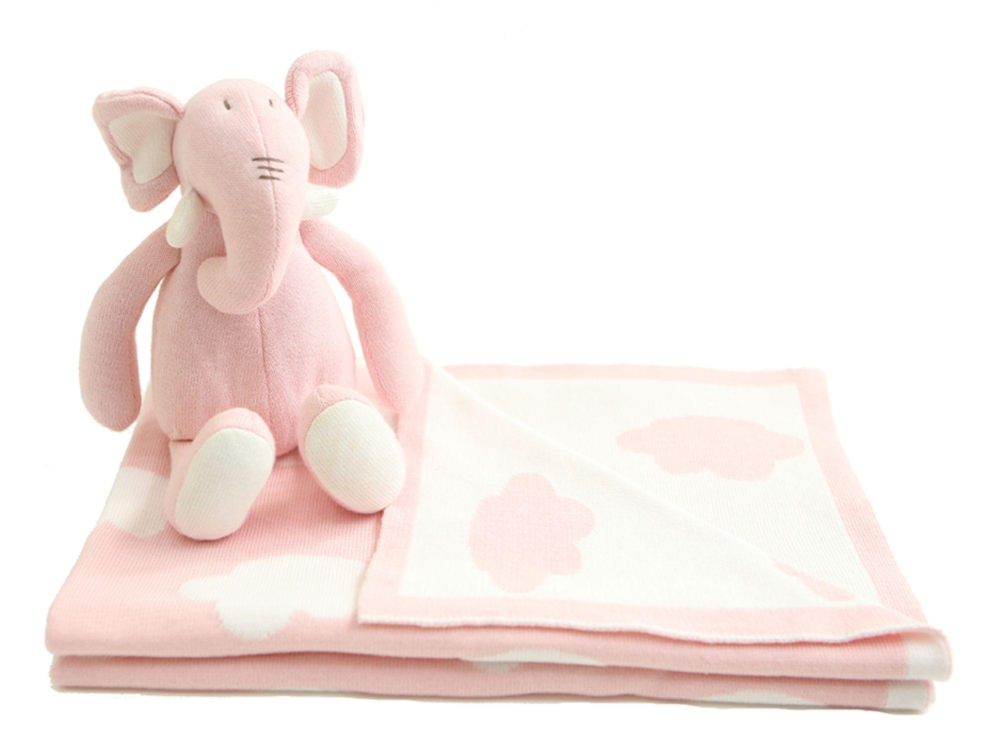 Manta e Naninha Elefante Sam & Peas - Nana Pink