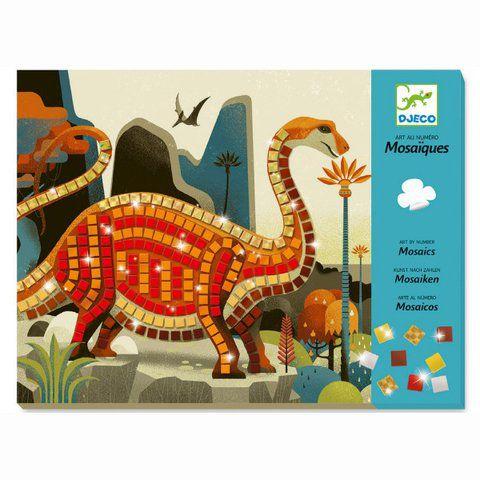 Colagem com Mosaico Djeco - Dinossauros