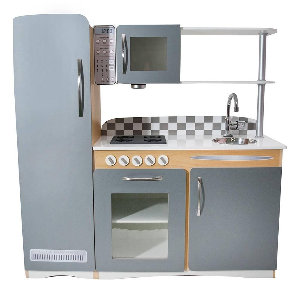 Cozinha de Madeira Infantil Retro Cinza