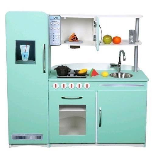 Modelo Retro - Cozinha de Madeira Infantil  - Cores