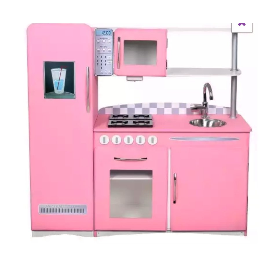 Cozinha de Madeira Infantil Retro Rosa