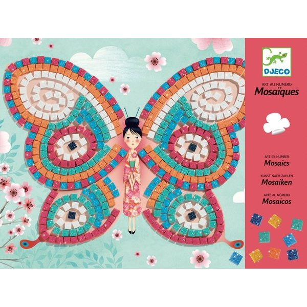 Djeco - Colagem com Mosaico - Borboletas