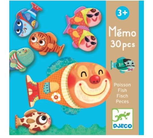 Memo Djeco -  Jogo da Memória Peixes