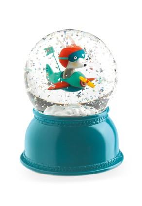 Luminária Infantil Bola de Neve Djeco - Avião