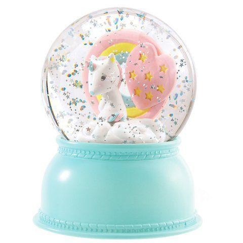 Luminária Infantil Bola de Neve Djeco - Unicórnio