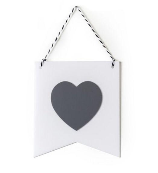 Flâmula Adot em Acrílico - Coração Cinza