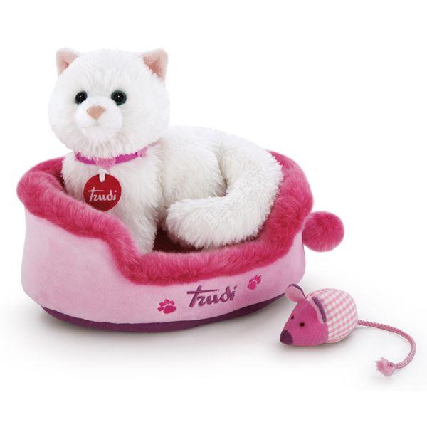 Gatinha Kitty com Ratinho e sua Cama