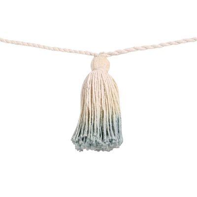 Fio de Pompom Tie Dye Lorena Canals - Tassel Franjas Azuis Vintage