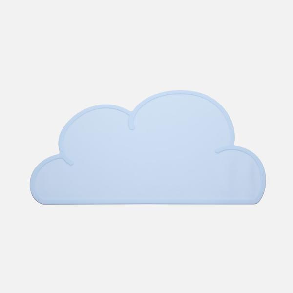Jogo Americano em Silicone - Nuvem- Azul