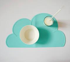 Jogo Americano em Silicone - Nuvem Verde Acqua