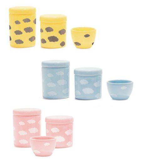 Kit de Higiene Nuvens - Amarelo, Azul ou Rosa
