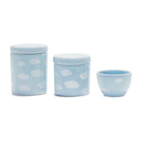 Kit de Higiene Nuvens - Azul